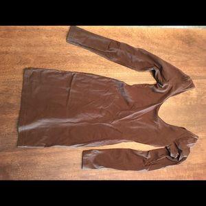 Brown long sleeve tight dress